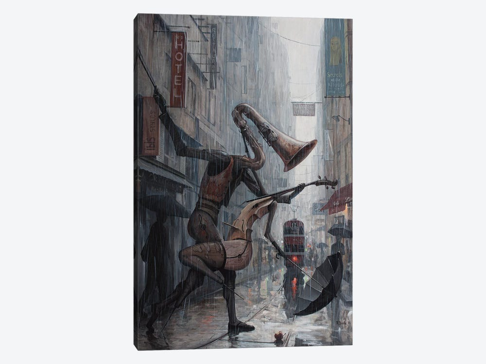 Life Is A Dance In The Rain by Adrian Borda 1-piece Canvas Wall Art