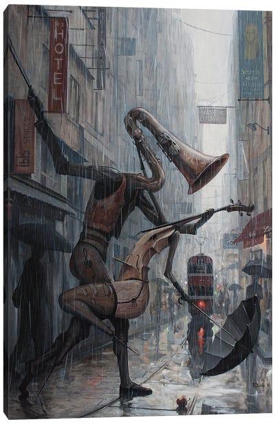 Life Is A Dance In The Rain Canvas Art Print