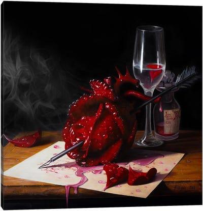 Love Slowly Kills III Canvas Art Print