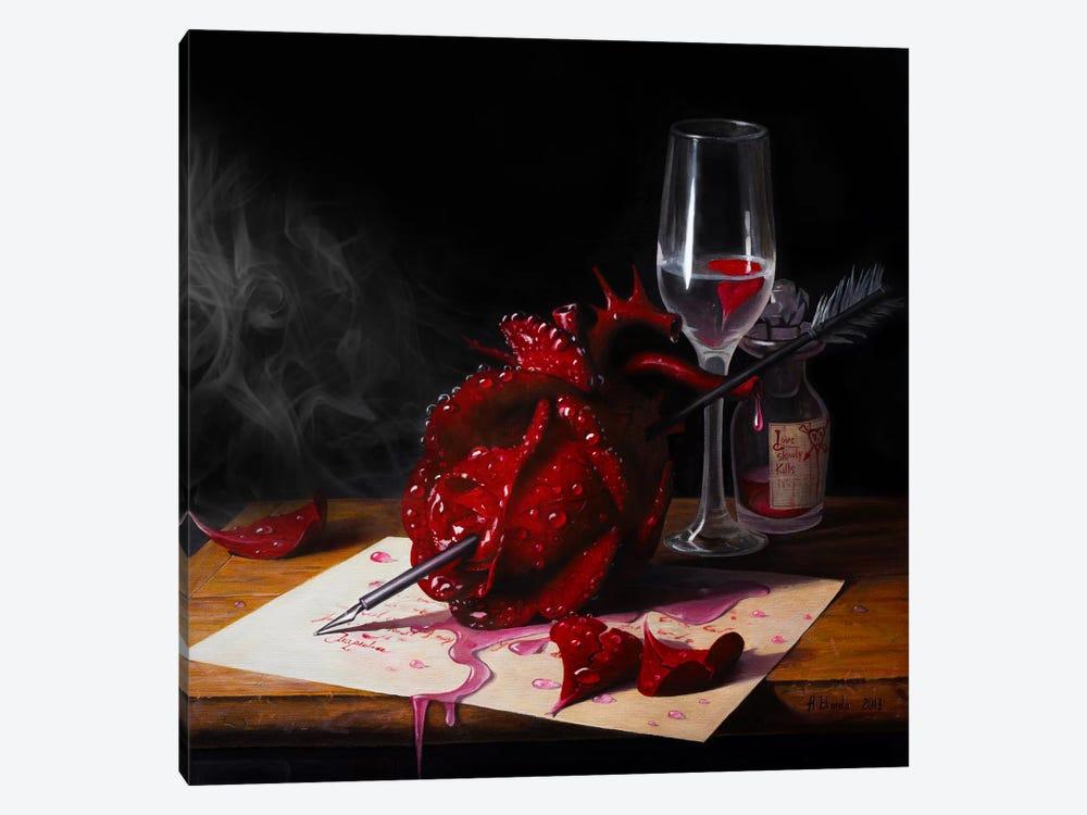 Love Slowly Kills III by Adrian Borda 1-piece Canvas Wall Art