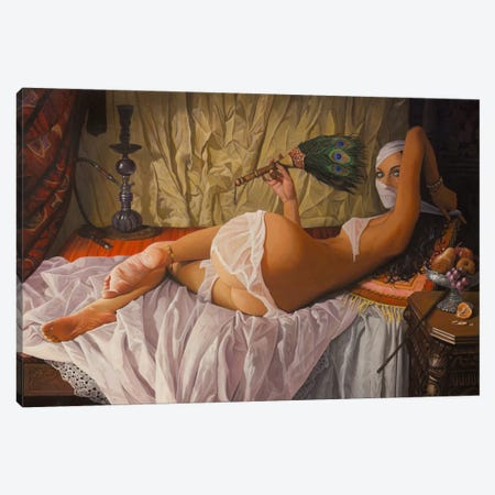 Odalisque Canvas Print #BOR43} by Adrian Borda Art Print