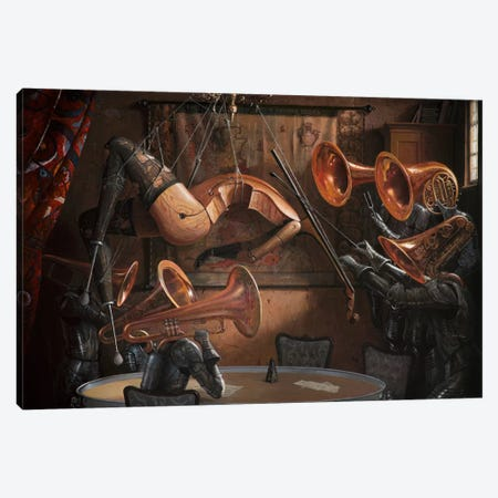 Serenade With Strings Canvas Print #BOR49} by Adrian Borda Canvas Art Print