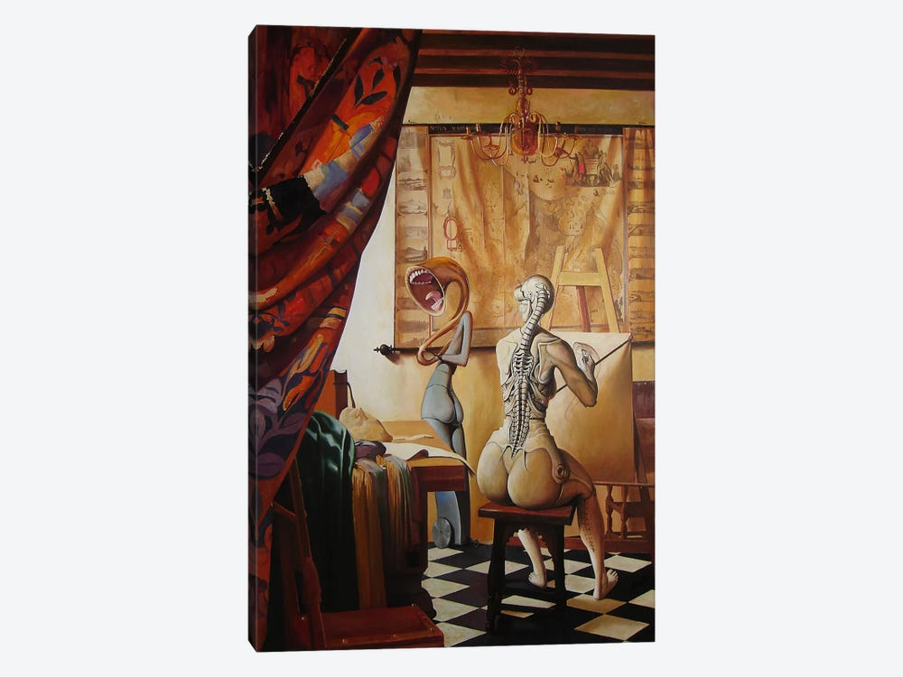 Allegory Of Painting by Adrian Borda 1-piece Canvas Print
