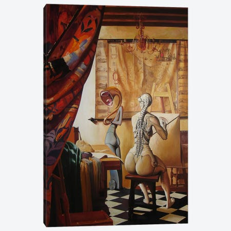 Allegory Of Painting Canvas Print #BOR4} by Adrian Borda Art Print