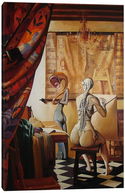 Allegory Of Painting Canvas Art Print