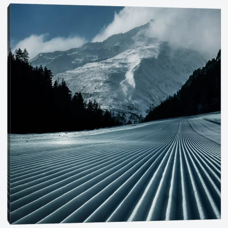 Ski Tracks Canvas Print #BOR53} by Adrian Borda Canvas Wall Art