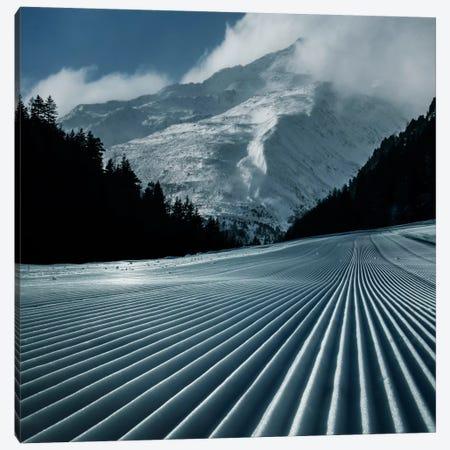 Ski Tracks Canvas Print #BOR53} by Adrian Borda Canvas Wall Art