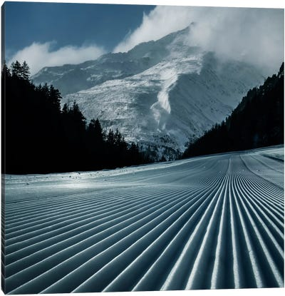 Ski Tracks Canvas Art Print