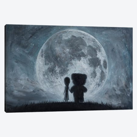 Take Me To The Moon Canvas Print #BOR57} by Adrian Borda Canvas Art Print