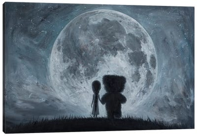 Take Me To The Moon Canvas Art Print