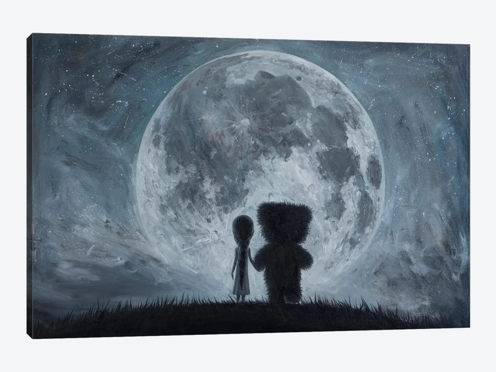 Take Me To The Moon by Adrian Borda 1-piece Canvas Print