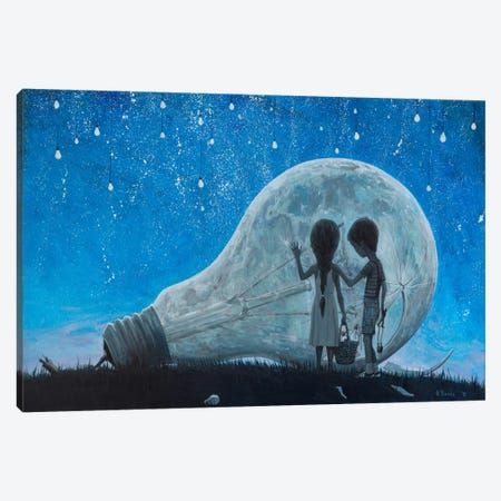 The Night We Broke The Moon Canvas Print #BOR60} by Adrian Borda Canvas Art Print