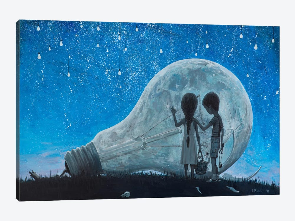 The Night We Broke The Moon by Adrian Borda 1-piece Art Print