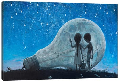 The Night We Broke The Moon Canvas Art Print