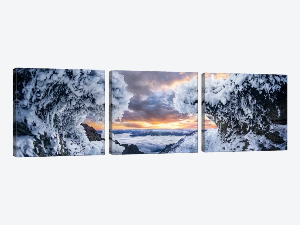 Where The Waves Collide by Adrian Borda 3-piece Canvas Wall Art