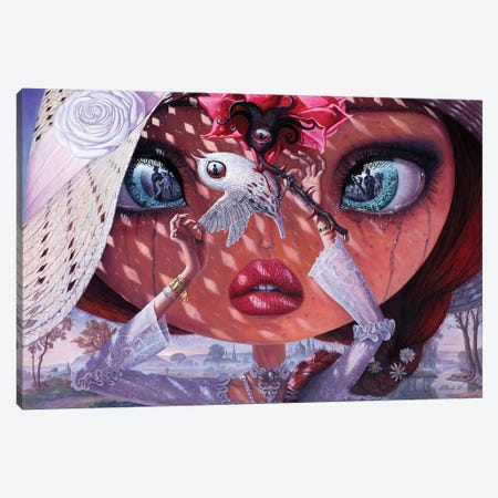 A Heart's Lullaby 3-Piece Canvas #BOR73} by Adrian Borda Canvas Wall Art