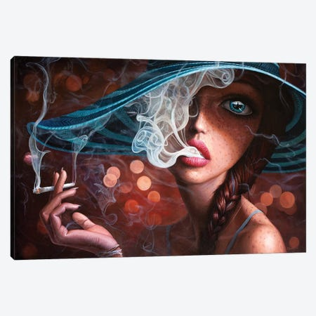 Enter The Void I Canvas Print #BOR74} by Adrian Borda Canvas Art Print