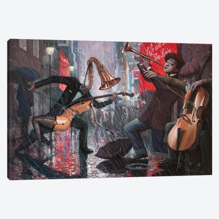 Life Is A Dance In The Rain V Canvas Print #BOR76} by Adrian Borda Canvas Print
