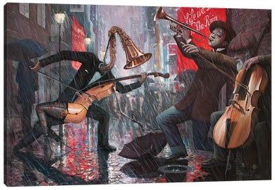 Life Is A Dance In The Rain V Canvas Art Print
