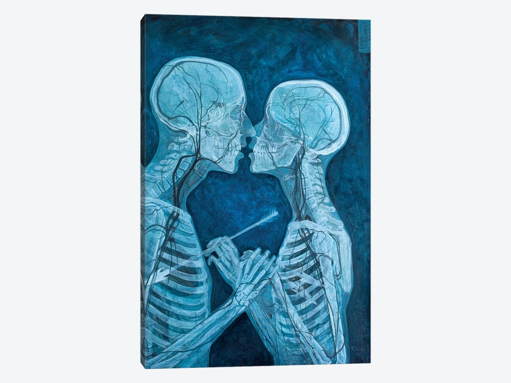 Love Slowly Kills VI by Adrian Borda 1-piece Canvas Wall Art