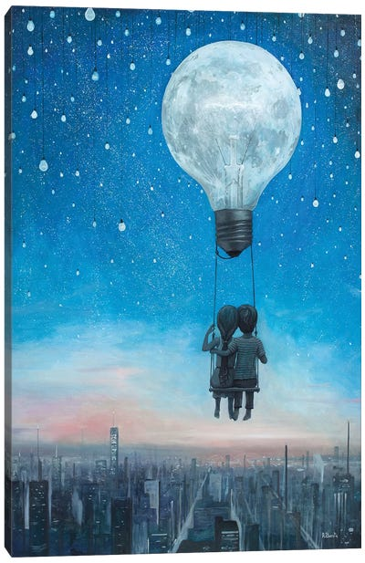 Our Love Will Light The Night Canvas Art Print