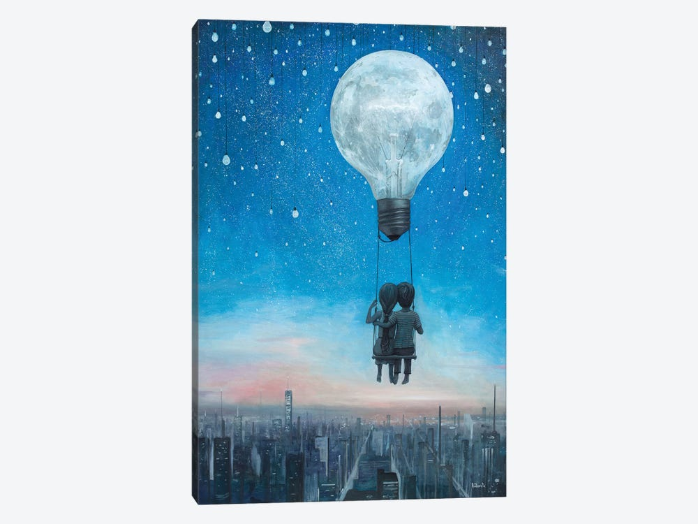 Our Love Will Light The Night by Adrian Borda 1-piece Art Print