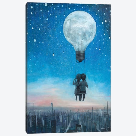 Our Love Will Light The Night 3-Piece Canvas #BOR79} by Adrian Borda Canvas Art