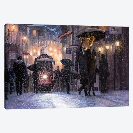 Return From The Concert 3-Piece Canvas #BOR80} by Adrian Borda Art Print