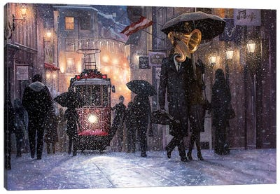 Return From The Concert Canvas Art Print
