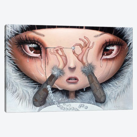 Sadness Is My Single Fortune Canvas Print #BOR81} by Adrian Borda Canvas Print