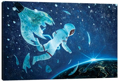The Birth Of The First Astronaut II Canvas Art Print