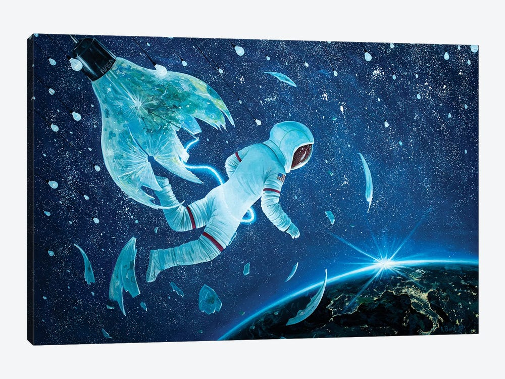 The Birth Of The First Astronaut II by Adrian Borda 1-piece Canvas Art Print