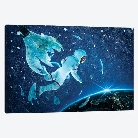 The Birth Of The First Astronaut II Canvas Print #BOR84} by Adrian Borda Canvas Wall Art
