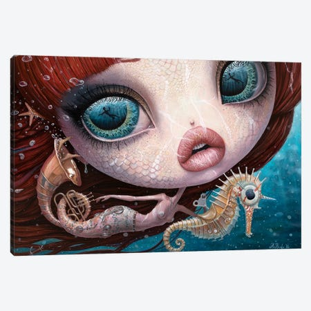 The Song Of The Sea 3-Piece Canvas #BOR87} by Adrian Borda Canvas Artwork