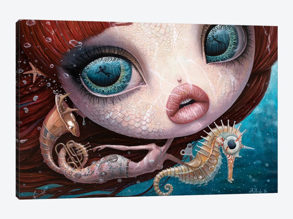 The Song Of The Sea by Adrian Borda 1-piece Canvas Artwork