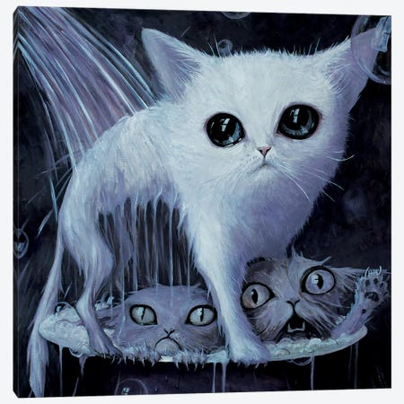 A LOLcat's Hell Canvas Print #BOR90} by Adrian Borda Canvas Artwork