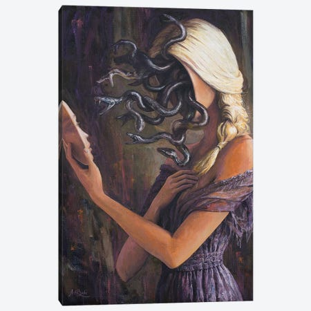 Facing Myself Canvas Print #BOR91} by Adrian Borda Canvas Artwork