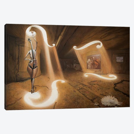 The Allegory Of Bicameral Mind Canvas Print #BOR94} by Adrian Borda Canvas Art Print