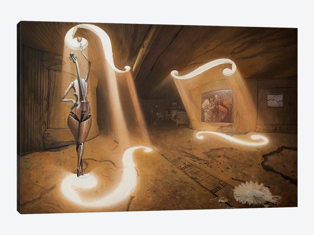 The Allegory Of Bicameral Mind by Adrian Borda 1-piece Canvas Artwork