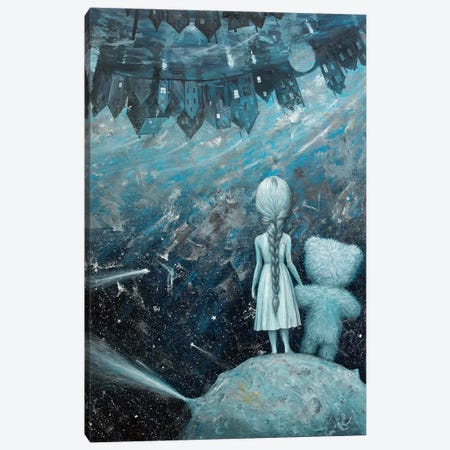 The Little Princess Canvas Print #BOR97} by Adrian Borda Art Print