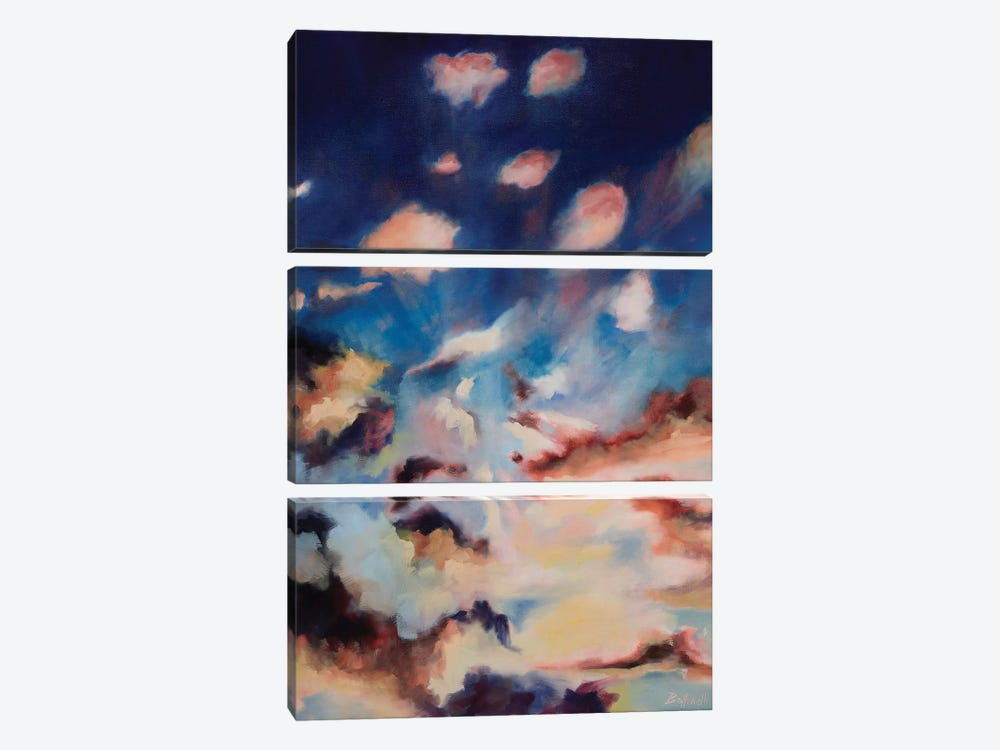 Colored Skies I by Sandra Bottinelli 3-piece Canvas Wall Art