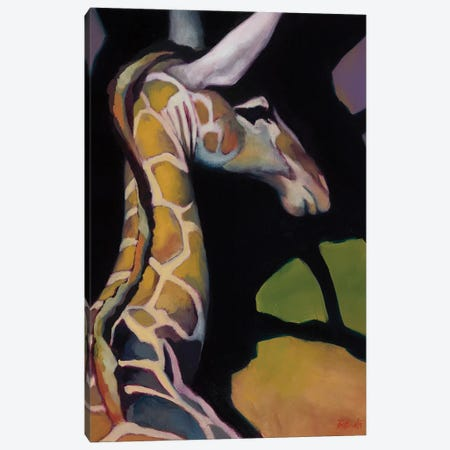 Portrait Of A Giraffe Canvas Print #BOT32} by Sandra Bottinelli Canvas Wall Art