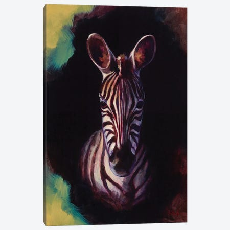 Portrait Of A Zebra Canvas Print #BOT33} by Sandra Bottinelli Canvas Wall Art