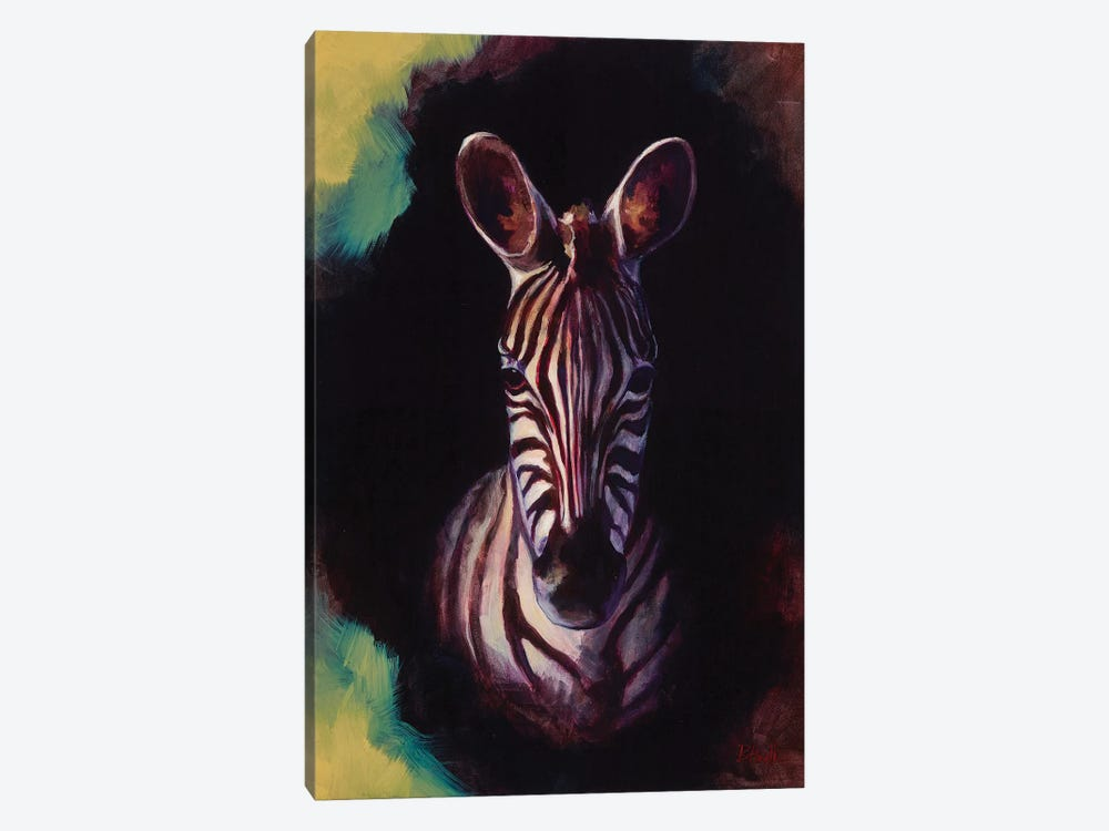 Portrait Of A Zebra by Sandra Bottinelli 1-piece Canvas Art Print