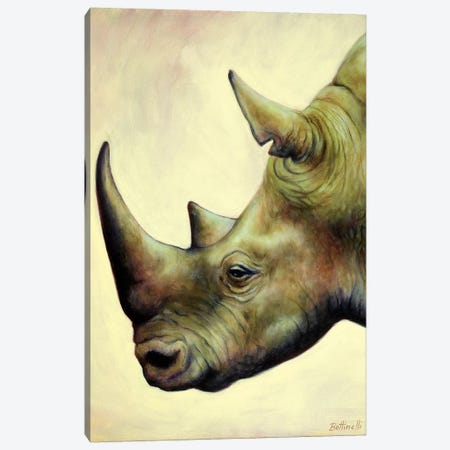 The Rhino Canvas Print #BOT47} by Sandra Bottinelli Canvas Wall Art