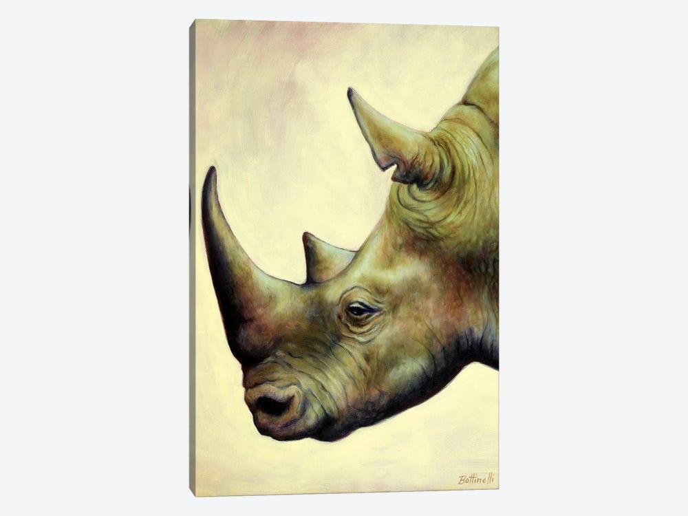 The Rhino by Sandra Bottinelli 1-piece Canvas Wall Art