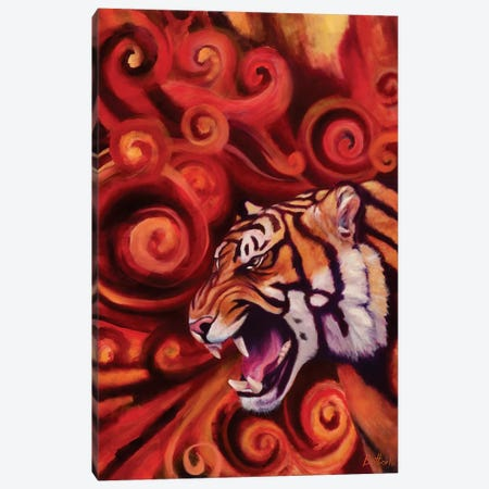 The Scream Canvas Print #BOT48} by Sandra Bottinelli Art Print