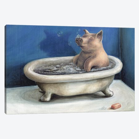 Bathing Beauty Canvas Print #BOT4} by Sandra Bottinelli Art Print