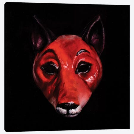 Fox Mask Canvas Print #BOT57} by Sandra Bottinelli Canvas Art Print