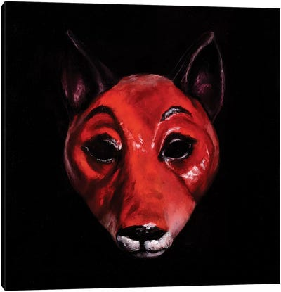 Fox Mask Canvas Art Print